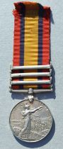 A 9th Lancers Queens South Africa medal (ghost dates) with Cape Colony & Orange Free State clasps