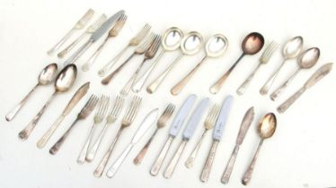 Royal Army Ordnance Corps RAOC Officers mess cutlery, sitting of four of each of the following: