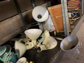 HALF SHELF OF ANGLEPOISE LAMPS
