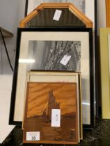 QUANTITY OF FRAMED PRINTS & MIRRORS