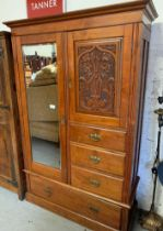 WARDROBE WITH CARVED PANEL & MIRRORED DOOR ## KEY ##