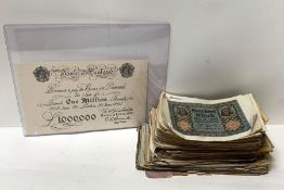 A large quantity of German inflationary banknotes,