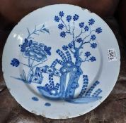 A late 18th/early 19th Century Delftware charger p
