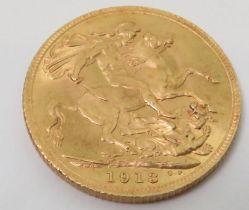 A 1913 sovereign