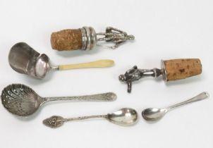 A silver bottle stopper, possibly Mr Pickwick, Lon
