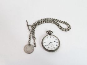 Anonymous, a silver open faced pocket watch, the s