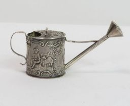 A late Victorian silver novelty pepper, in the for
