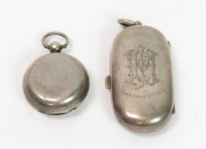 An Edwardian silver sovereign and half sovereign c