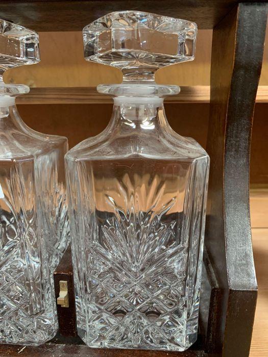 Modern 2 decanter tantalus - Image 4 of 5