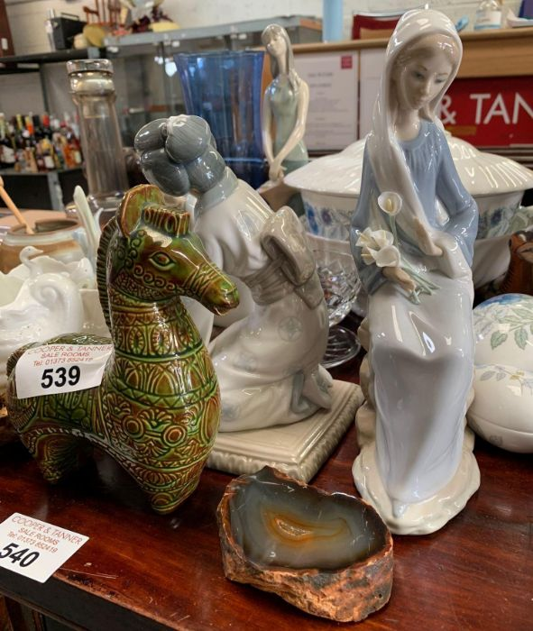 LLadro figure of a girl holding lilies along with - Image 2 of 8