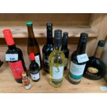 Small quantity of wines & spirits to include Harve