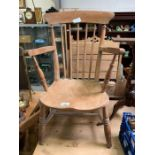 Windsor type chair with spindle back