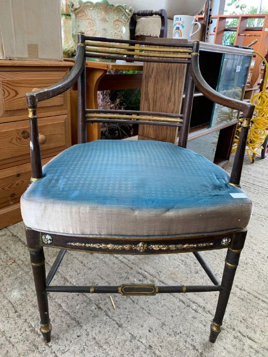3 chairs, small table & opera chair - Image 4 of 7