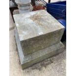 Large fibre glass plinth