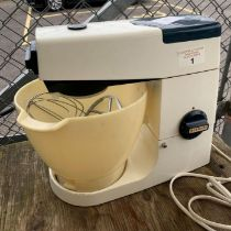 Vintage Kenwood mixer together with a small pot cu