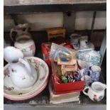 2 x wash jug & basin sets together with other cer
