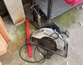 Black & Decker electric saw together with a guillo