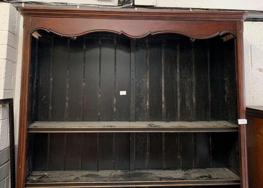 Large 20th century mahogany bookcase with 3 adjust - Image 2 of 3