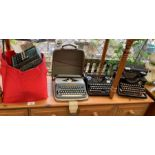 Selection of vintage typewriters