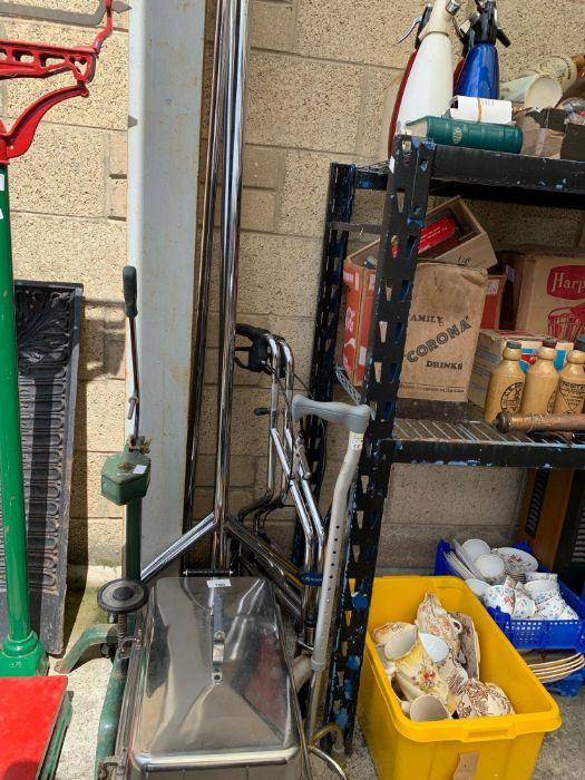 Bottle corker, Bain Marie, clothes rail & mobility