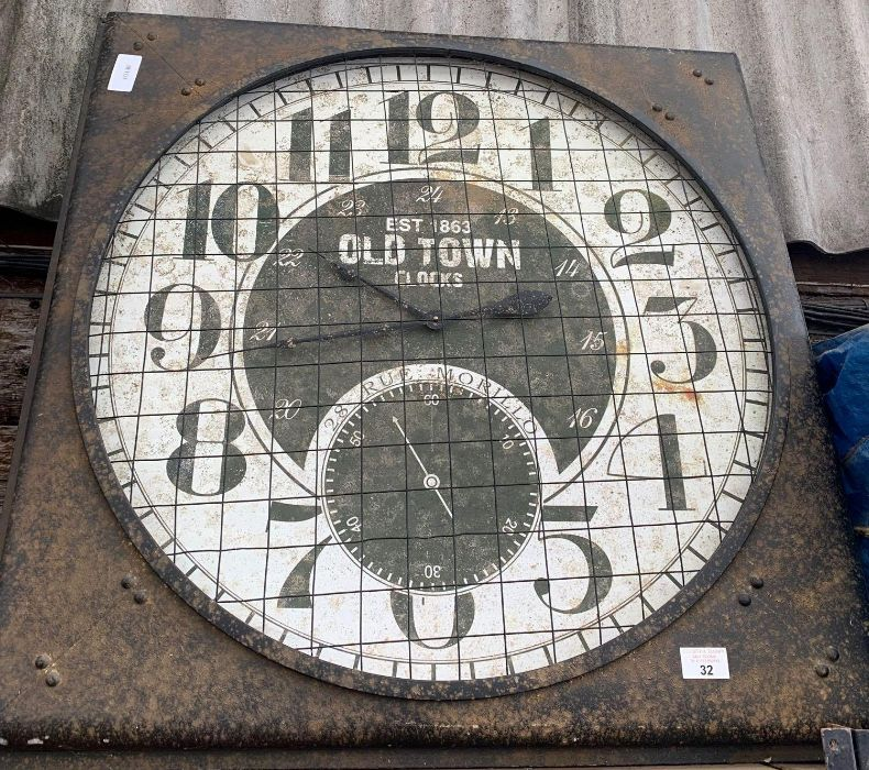 Large reproduction clock by Old Town Clocks