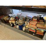 Old radio's, books, commemorative china etc
