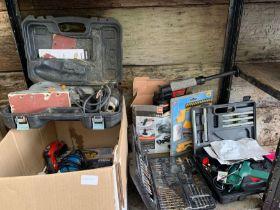 Box of power tools