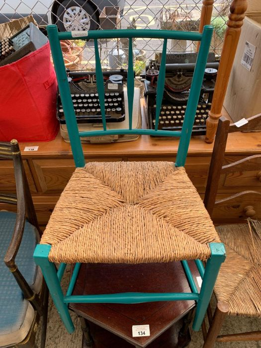 3 chairs, small table & opera chair - Image 7 of 7