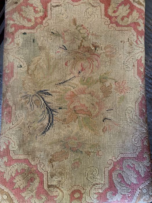 Tapestry footstool - Image 2 of 2