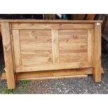 Modern pine double bed frame