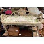 Rococo style French bench
