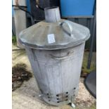 Galvanized incinerator together with a chrome kitc