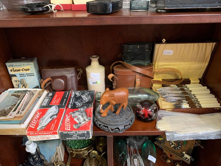 Shelf of collectables to include camera's, ear - Image 3 of 10