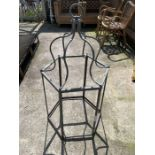 Frame for possibly a hurricane lamp