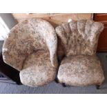 2 Victorian nursing chairs