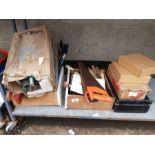 Various saws, spirit level & other tools etc
