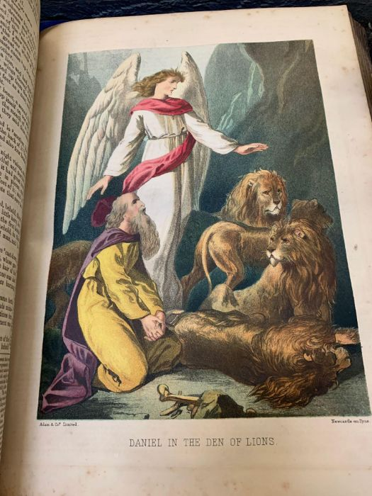 Large late Victorian bible together with other boo - Image 4 of 5