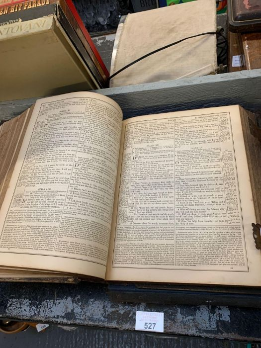 Large late Victorian bible together with other boo - Image 3 of 5
