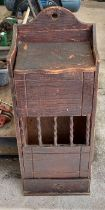 Rustic pine baguette/bread box with single drawer