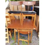 Mid 20th century dining table with 4 chairs with