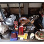 Quantity of vintage cake tins, moulds & other kitc