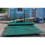 Large metal gate, posts & fencing