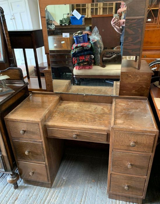 Mid 20th Century dressing table with mirror
