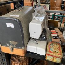 Frister Rossman cased sewing machine together with