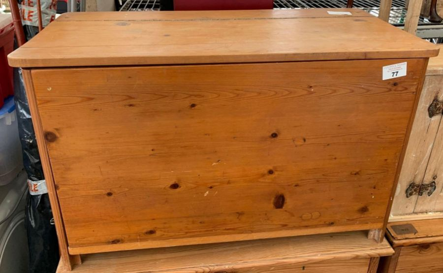 Modern stained pine blanket box
