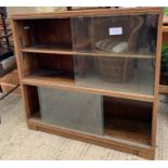 Mid 20th Century stained oak bookcase with glazed