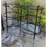 2 large black painted deer guards for trees or pla