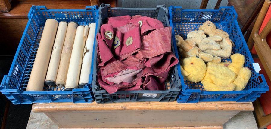 Collection of Masonic items, teddy bears & pianola