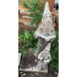 Pair of wizard garden statues