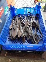 2 crates of assorted cutters, pliers etc